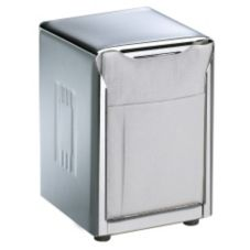 San Jamar® H985X Chrome Low Fold Table-Top Napkin Dispenser