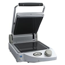 Cadco CPG-10F Single Panini  /Clamshell Smooth Surface Grill