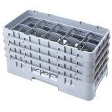 Cambro 10HS800151 Camrack Gray Half Size 10-Compt Glass Rack - 2 / CS