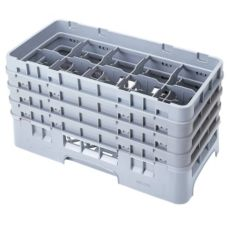 Cambro Camrack® Soft Gray Half Size 10-Compt Glass Rack