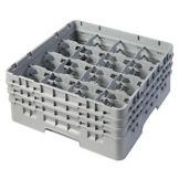 Cambro® 16S638151 Soft Gray Full Size 16 Compartments Glass Rack