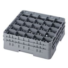 Cambro 25S434151 Soft Gray Camrack Full Size 25 Compartment Glass Rack