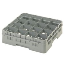 Cambro® 16S418151 Camrack® Soft Gray 16 Compartment Glass Rack