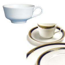 Steelite 42032370 Royal Court Gold Pia Blue 5 Oz Tea Cup - 24 / CS