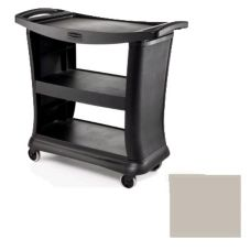 "Rubbermaid® FG9T6800PLAT Platinum Executive 39"" Service Cart"