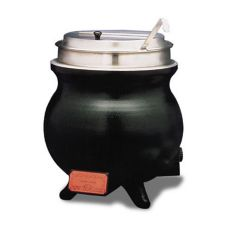APW Wyott WK-1V PKG 11 Qt. Countertop Round Soup Warmer with Inset
