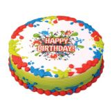 Lucks™ 45240 Edible Image® Birthday Splat - 12 / BX