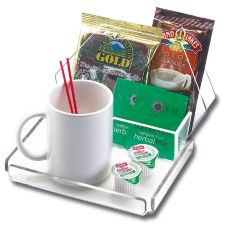 Cal-Mil® 490-12 Clear Hotel Amenity Coffee Tray - 16 / CS