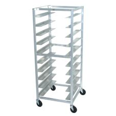 "Advance Tabco OT10-6 Aluminum 26 x 28 x 69-1/4"" Oval Tray Rack"