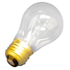 Clear A-15 Incandescent 15W Bulb, 130V 3000 hours, 4 Pack