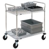"Metro® 2SPN45ABR 21 x 48"" Cart With 2-Super Erecta® Shelves"