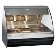 Alto-Shaam HN2-48-BLK Halo Heat Self-Serve Two-Door Deli Display Case
