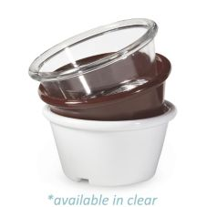 G.E.T. ER-025-CL Clear SAN Plastic 2.5 Oz. Smooth Ramekin - 48 / CS