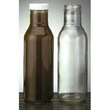 E Bottle 1404 Ring Neck 12 Oz Glass Sauce Bottle - Dozen