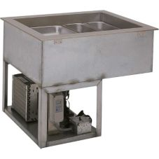 Wells Manufacturing RCP-7200 Drop-In 2-Pan Cold Food Unit with Drain