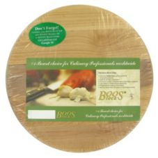 "John Boos 12"" Round Maple Cutting Board"