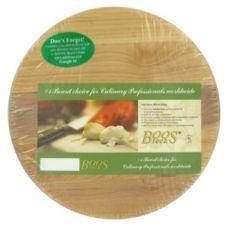 "John Boos ZCARIBOU-B12-1 12"" Round Maple Cutting Board"