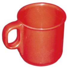 Gessner™ DW8OZ1M R Melamine 8 Oz. Red Coffee Mug - Dozen