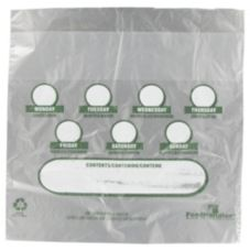 "Saneck 729218 Poly 10 x 8.5"" Day Of Week Portion Bags - 2000 / CS"