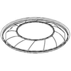 "Par-Pak® 5N200-FL 16"" Round Clear Plastic Flat Lid - 25 / CS"