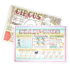 "Lapaco 314-039 10"" x 14"" Kid's Games Paper Placemat - 1000 / CS"