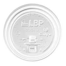 LBP White Pull & Sip Lid for 12 / 16 Oz. Hot Cup