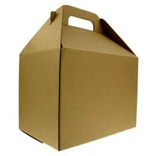 LBP 6139833 Kraft Paperboard Boxed Lunch Container - 50 / CS