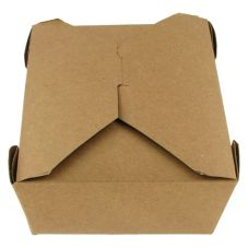 "Bio-Plus® #8 Kraft 6 x 4.8 x 2.5"" Recycled Take-Out Container"