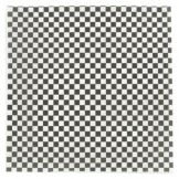 "Brown Paper Kraft Black & White Check 12"" Square Wax Sheet"