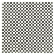 "Brown Paper 117B12BK Kraft Black/White Check 12"" Wax Sheet - 5000 / CS"