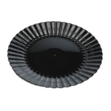 "EMI Yoshi® EMI-REP9-BLK Reposables Plastic 9"" Plate - 180 / CS"