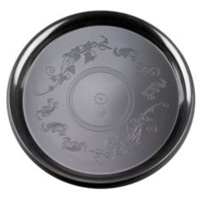 "EMI Yoshi® EMI-220-BLK Plastic Round 12"" Tray - 25 / CS"