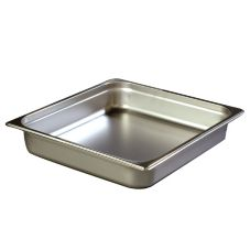 "Carlisle® 2-1/2"" Deep 2/3 Size Light Gauge S/S Food Pan"