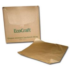 "EcoCraft® 16406012 12"" x 10-3/4"" Dry Wax Deli Paper - 12 / CS"