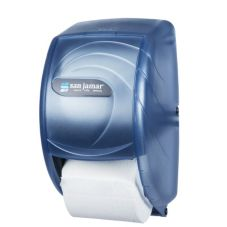 San Jamar® R3590TBL Blue Duett Standard Bath Tissue Dispenser
