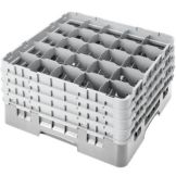 Cambro® 25S900151 Soft Gray 25 Compartment Full Size Glass Camrack
