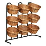 Mobile Merchandisers® K1430/9 3-Tier Display Rack with 9 Baskets