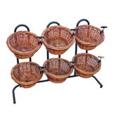 Mobile Merchandisers® K1430/6S 2-Tier Display Rack with Baskets