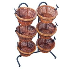 Mobile Merchandisers K1430/6H Tall 6-Tier Basket Display