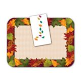 Dinex® DXHS341DN01 Autumn Leaves Napkin Pack - 100 / PK