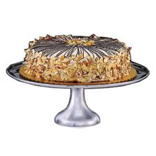 "D.W. Haber & Sons 3431014 S/S 14"" Cake Stand With Rolled Edge"