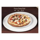 "CAC China PP-12 Flat 12"" Pizza Plate - 12 / CS"