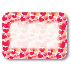 Dinex DXHS002M001 Valentines Day Medium-Size Tray Cover - 100 / PK