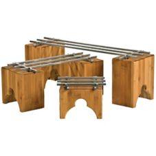 Buffet Euro RR 3000 BB 4 Piece Rail Raiser Set With 5 Bamboo Risers
