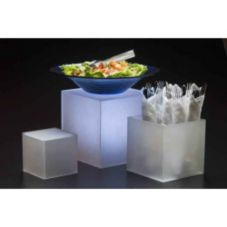 American Metalcraft AC579 3-Piece Set Frosted Acrylic Risers