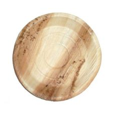 "PackNWood 210BBA25 Round 9-4/5"" Palm Leaf Plate - 100 / CS"