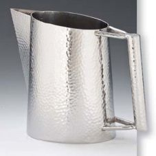 D.W. Haber & Sons 6564MSS Hammered 64 Oz. Tear Drop Water Pitcher