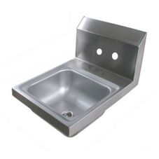 "John Boos PBHS-W-0909-X 9"" Wall Mounted Stainless Steel Hand Sink"