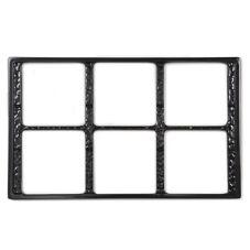 G.E.T. ML-168-BK Black Full Size Tile w/ 6 Cut-Outs f/ Square Crocks