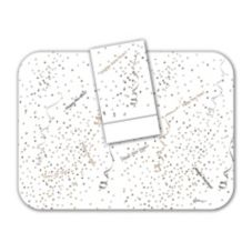 "Dinex® Confetti & Streamers 14"" x 18"" Tray Covers"